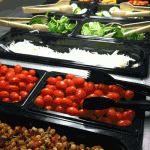 St. Paul schools offer a Choice Bar with unlimited salads, fruits and vegetables. (Park Bugle photo by Alex Lodner)