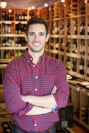 Tim Hausmann: certified sommelier at the Little Wine Shoppe. (Park Bugle photo by Lori Hamilton)