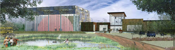 This is a rendering of the Bell Museum's proposed facility on the University of Minnesota's St. Paul campus.