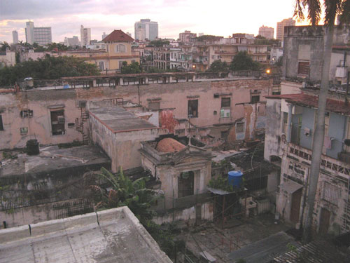 A hotel room view in Havana. (Photo by Roger Bergerson)