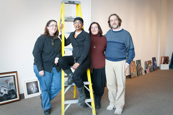 The People's Gallery collective, from left: Gennie Alberti, Ayanna Murata,Theresa Jarosz Alberti and Bob Alberti. (Photo by Lori Hamilton)