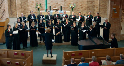 The St. Paul Vocal Forum performs under the direction of Karen Barrett in 2013.