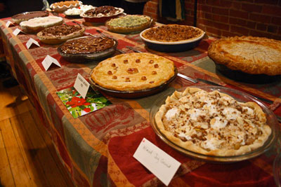 Twenty-three pies—13 sanctioned and 10 unsanctioned—were entered in the Comstock family's 2014 pie baking contest. The pies ranged from sweet to savory and traditional to original. Photo by Marina Lang