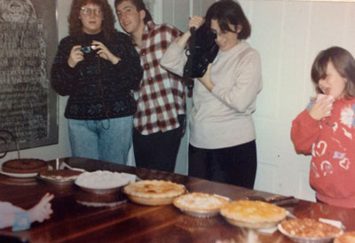Rita and Matt Comstock, Barb Soukop (sister of Manny and Verne Jr.)  and Sunny Comstock in 1990.