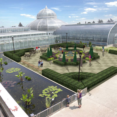 The Centennial Garden is the first element of a plan to bring back botanical features that park visitors would have seen at the time the Marjorie McNeely Conservatory was built.