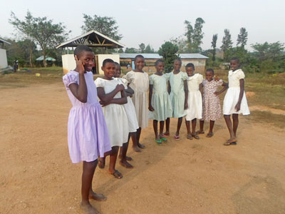 Some of the girls currently living at the Blue House orphanage in Kazo, Uganda. Photo by Karen Lilley