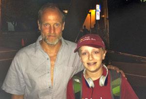Logan Chelmo with Woody Harrelson