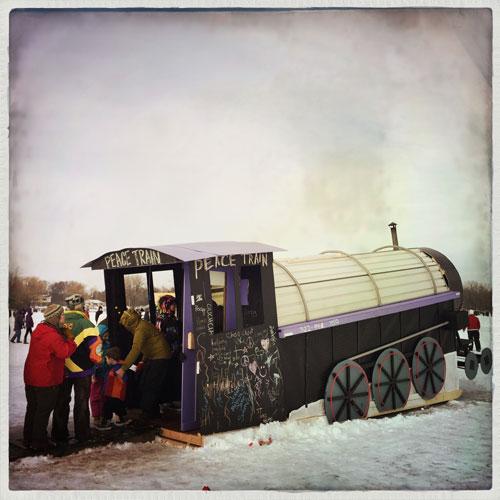 Peace Lutheran Church's Peace Train Shanty. Photo by Becky Kapell