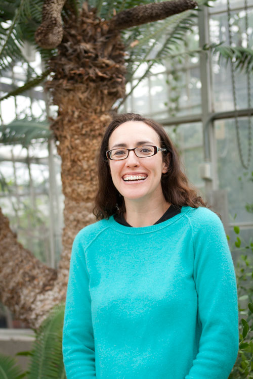 Lisa Aston Philander, Ph.D., curator of the College of Biological Sciences Conservatory. Photo by Lori Hamilton