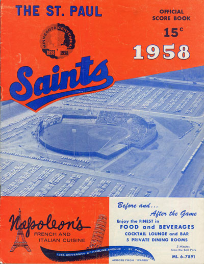 Scorebook from the second season at Midway Stadium. Author's collection