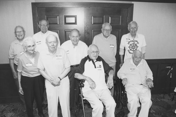 Members of Murray High School's Class of 1943: front row, from left, Nora Post-Smeed, Bob Hagen, Don Stevenson and Raleigh Nelson; back row, Dick Evans, Jim Manderfeld, Henry Ernst and Dean Kullenkamp.