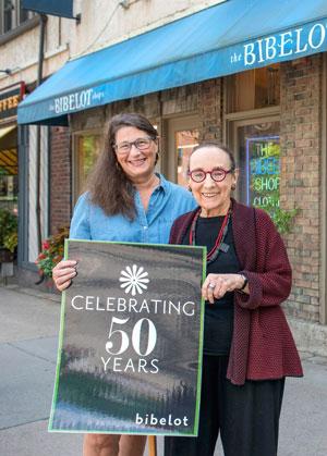 Como Avenue Bibelot store manager Jolene Borland and Freese. Photo by Mike Krivit