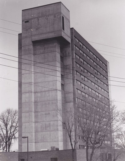 The iconic Modernist tower was built in 1976. Bugle archive photo