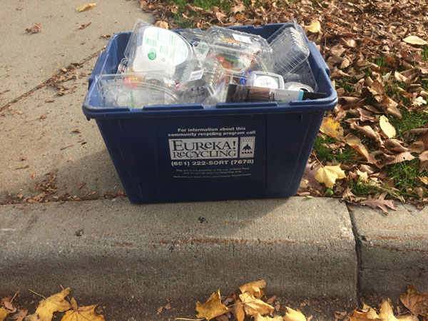St. Paul is saying good buy to the blue bins.
