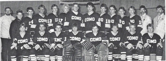 The Como Park Cougars varsity hockey team 30 years ago during the 1986-87 season.