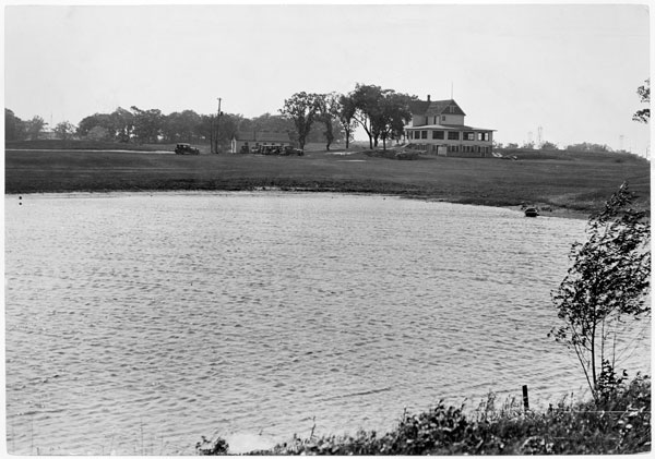 The first settlers in the Lauderdale area were John Walsh and family, who farmed at the north end of Eustis Street starting in 1855. The farm was worked until 1921, when the family home next to Walsh Lake became the clubhouse for the new Midland Hills Country Club. Photo courtesy of the Minnesota Historical Society